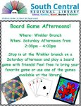 Winkler's Board Game Afternoons @ Winkler Branch